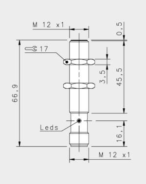 Induktiver Initiator M12 2mm Schliesser M12